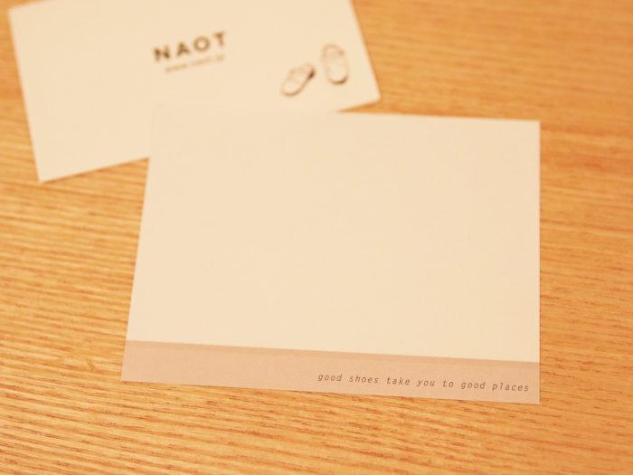 現在お手紙に使われているカード。伝えたい思いが溢れて、時には小さいと感じることもあるそう。